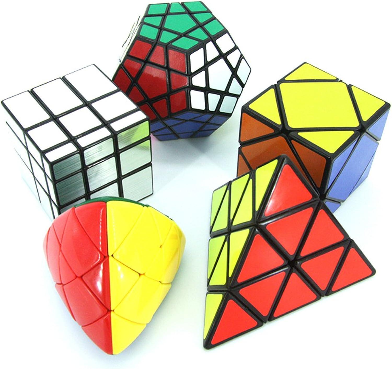MZStech Magischer Würfel Puzzle Set aus Pyraminx, Meganminx, Skewb, Mastermorphix, 3x3 Spiegelwürfel- 5er Pack B0769DSX48 Elegantes und robustes Menü  | Verschiedene Arten und Stile