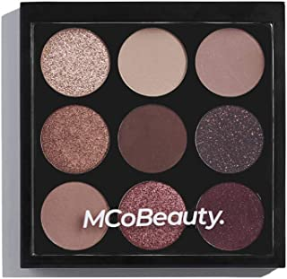 MCoBeauty Eyeshadow Makeup Palette | Vegan | 9 Highly Pigmented Burgundy and Nude Shades