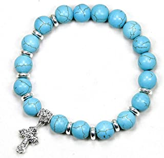 HMKLN Natural Stone Matte Black Onyx Men'S 10Mm Chunky Beads Bracelets Tiger Eye Beads Handmade Jewelry Onyx Men Bracelet
