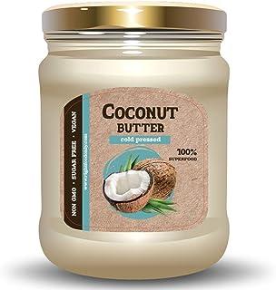 Manteca de Coco Cruda (RAW) Prensado en Frío 230gr - Supeganfood 100% Puro Vegano sin OMG sin Azúcar