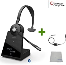 $429 » Polycom Compatible Jabra Engage 75 Wireless Headset Bundle with EHS Adapter, 9556-583-125-PLY   PC, MAC, USB, VVX and Soundpoint Phones, Bluetooth, Skype for Business (Mono - EHS - Cloth)