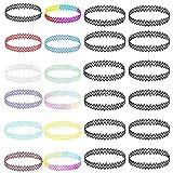 AoedeJ 24PC Gargantilla Conjunto de Collar de Encanto elástico elástico Henna Tatuaje Gargantilla Collar Multicolor Collar para Mujeres niñas (Estilo 1)