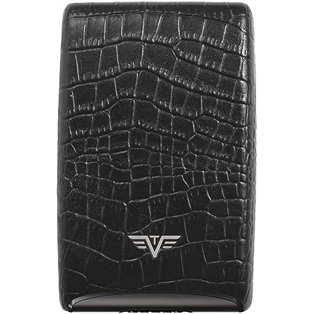 Tru Virtu Tarjetero, Billetera De Aluminio Credit Card Case Leather Sistema RFID
