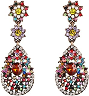 Drop-shaped earrings,Color stud earrings,Simple Vintage Drop Dangle Earrings Jewelry Gift