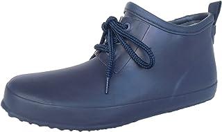 長靴 雨靴 防水 レインシューズ ガーデニング 畑作業 軽量 ショート シンプル レース 紐 通勤 通学 4色 レディース