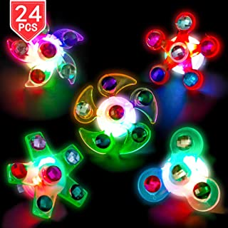 Sponsored Ad - PROLOSO LED Rings Light Up Fidget Toys Glow in The Dark Party Favors Spiral Twister Toys Gyro Flashing Jewe...