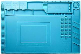 Lasamot almofada de isolamento térmico magnético de silicone para bancada de trabalho de solda eletrônica r-epair