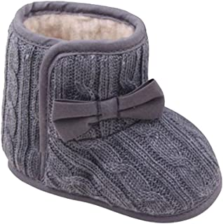 Fashion! Baby Warm Boot,Winter Toddler Boys Girls Cotton Solid Bowknot Soft Sole Anti-Slip Shoes