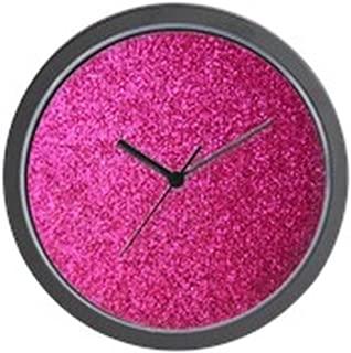 CafePress Hot Pink Faux Glitter Wall Clock Unique Decorative 10