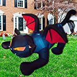 Poptrend Inflatable Halloween Decorations,7.9 FT Inflatable Big Black Cat Outdoor Halloween Blow Up Yard Decorations Internal LED Lights Halloween Holiday Decorations Home Garden