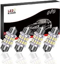 LEDKINGDOMUS DE3175 LED Bulb, 31mm Marine Led Bulb Festoon 7000K Cool White 3014 Chipset Bulb For Car Interior Lights, Boat Bow/Anchor/ Navigation lights