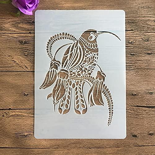 A4 29 X 21 cm Animal Diy Stencils Pintura de Parede Álbum de Recortes Coloração em relevo Modelo de cartão de papel decorativo, Stencil de parede 741