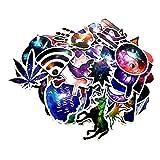 Galaxy Space Vintage paix monde Graffiti Super Cool Decal Autocollants et stickers Pack pour planche à roulettes Snowboard bagages voiture vélo Auto et Moto portable valise meubles etc (30 Pcs)