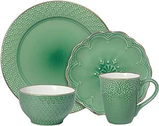 Pfaltzgraff French Lace Green Dinnerware Set (48 Piece)