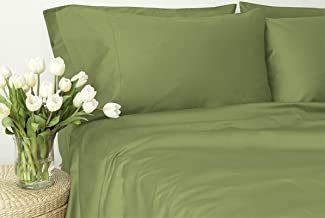 Egyptian Cotton 800 Thread Count, Laura Hill Collection, King 4-Piece Sheet Set, 1-LHH-403, Sage Solid