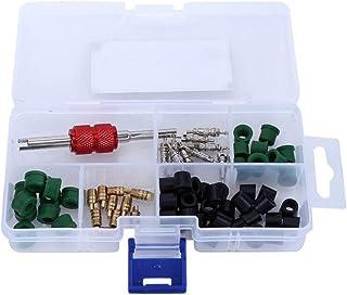 WINOMO 71Pcs Kit Núcleo Da Válvula de Ar Condicionado de Reparação de Automóveis AC Caixa De Ferramentas Conjunto Completo...