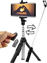 Bluetooth Selfie Stick Tripod - Compatible with All Smartphones - Wireless Remote Extendable Stand for iPhone X 6 7 8 / 6Plus, 7Plus 8Plus, Samsung Galaxy S6 S7 S8 S9 / Plus, Note 9, Huawei P20 Pro