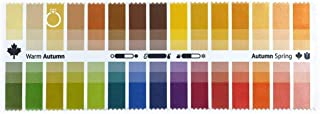 Handy Fabric Color Swatch Warm Autumn with 30 Colors for Color Analysis and Image Consulting