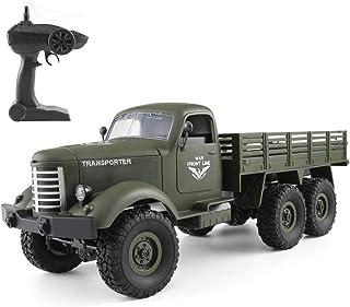 Goolsky JJR / C Q60 1/16 2.4G 6WD RC Off-Road Crawler Camión Militar Army Car Children Gift Kids Toy para Niños RTR
