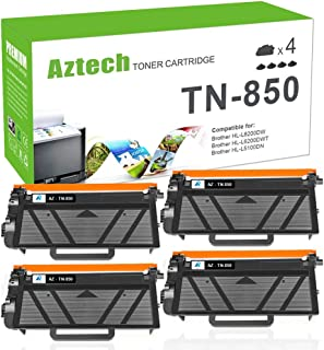 Aztech Compatible Toner Cartridge Replacement for Brother TN850 TN-850 TN 850 Brother HL-L6200DW HL-L6200DWT MFC-L5900DW MFC-L5700DW MFC-L6800DW HL-L5200DW MFC-L5850DW (Black, 4-Pack)