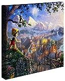 Thomas Kinkade Pinocchio Leinwandfolie, 35,6 x 35,6 x 3,8