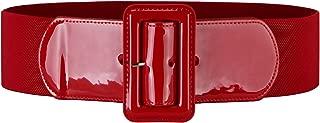 wide black patent leather belt