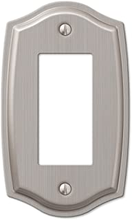 1 Rocker GFCI Decora Wall Plate Cover - Brushed Nickel