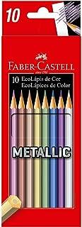 Lápis de Cor Sextavado, Faber-Castell, EcoLápis Metallic, 120410G, 10 Cores