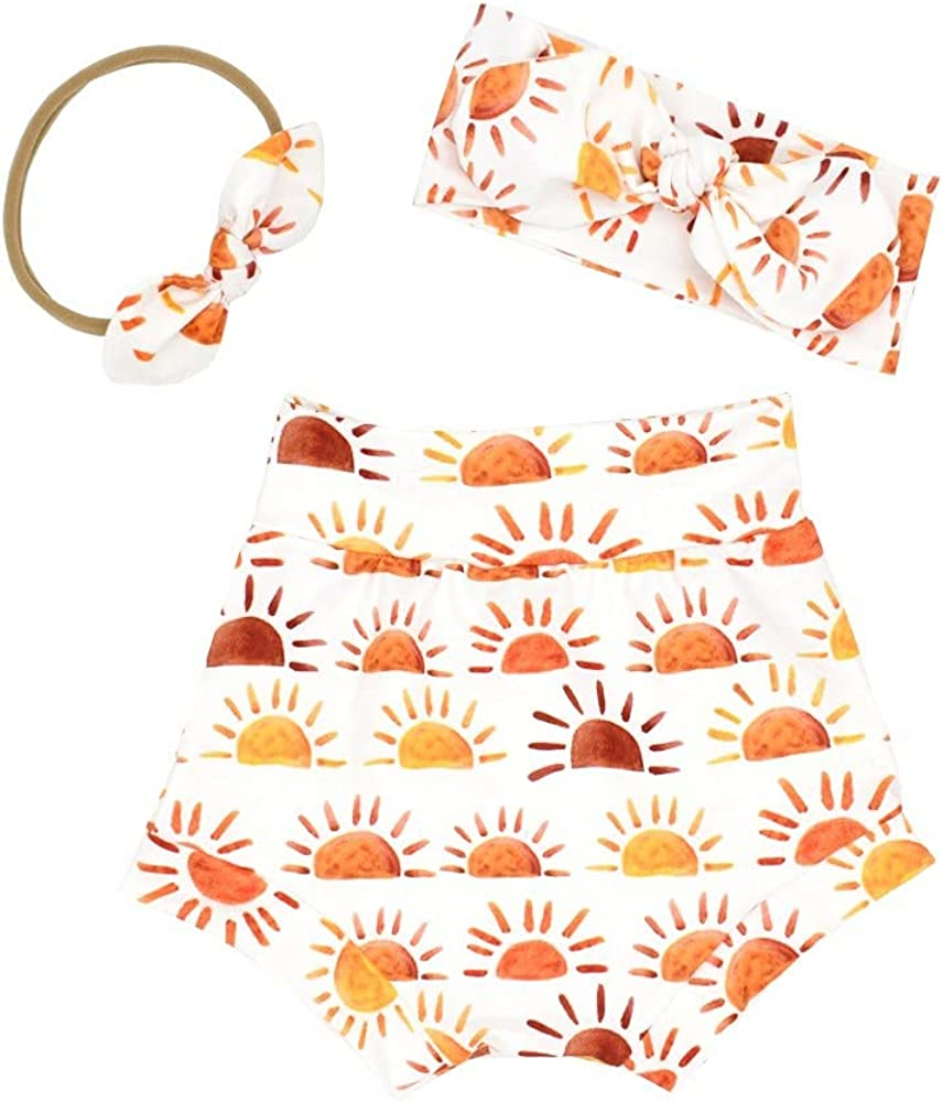 Winmany Newborn Summer Clothes Short Pant with Headband Baby Underwear Pajama Outfits