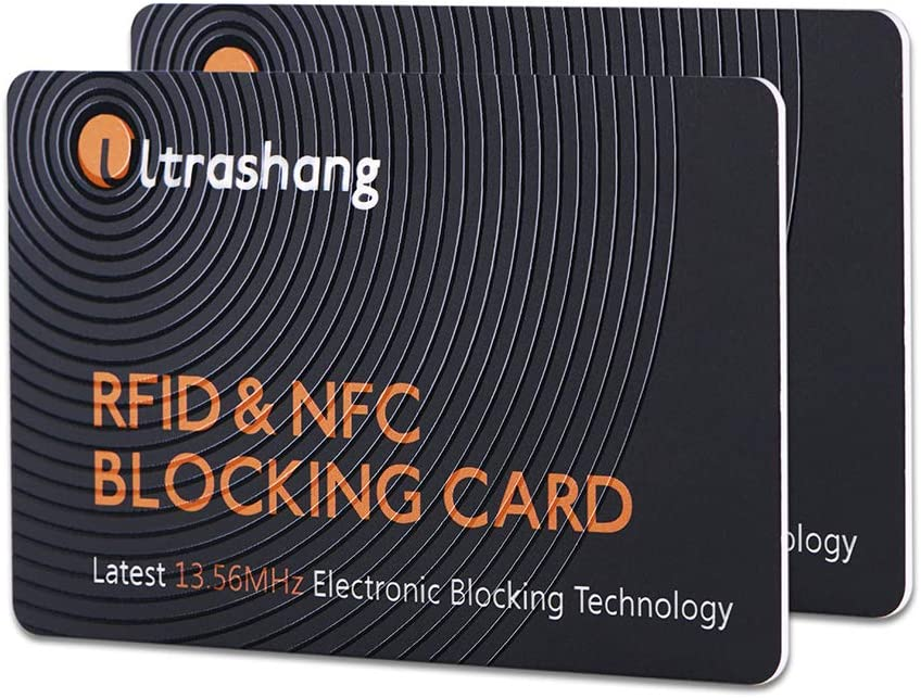 2Pcs RFID Blocking Card, Fuss-free Protection for Entire Wallet Shield, Credit Card Protector NFC Bank Debit Blocker, Identity Theft Prevention for Passport Travel Security (Ver. 2.0)