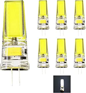 Daylight Cold White 5700K-6000K 12V AC//DC,Equivalent to 40W Halogen Light Bulbs Replacement Landscape Lighting,No Flicker COB lamp,for Under Cabinet 10-Pack G4 Bi-Pin Base 5W LED Bulbs