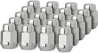 DPAccessories D3718-2305/20 20 Chrome 14x1.5 Closed End Bulge Acorn Lug Nuts - Cone Seat - 13/16