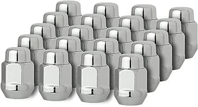 DPAccessories D3712-2305/20 20 Chrome 1/2-20 Closed End Bulge Acorn Lug Nuts - Cone Seat - 13/16
