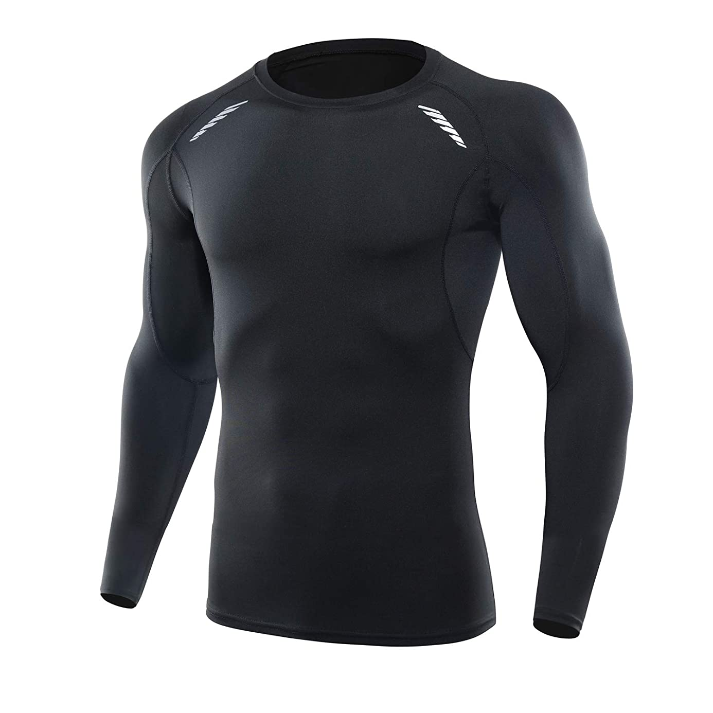 CAWANFLY Men's Compression Shirt Baselayer Short Sleeve Tops Cool Dry Skin Fit Athletic Workout T-Shirts