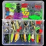 MUUZONING 106pcs Profesional Kits de señuelo de Pesca Suave...