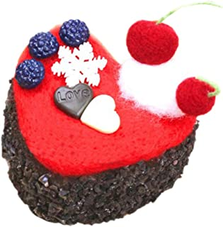 Hellery ニードルフェルトキット ケーキニードル ロールケーキ チーズロール 洋菓子 全5タイプ - 黒い森のケーキ