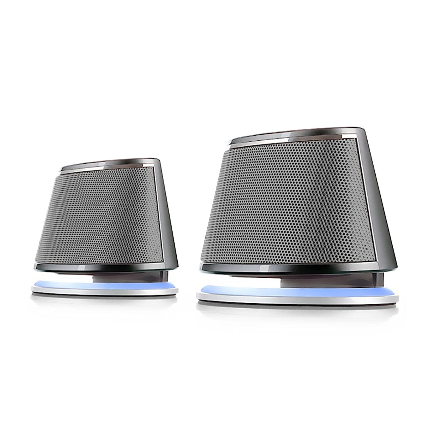 Satechi Dual Sonic Speaker 2.0 Channel Computer Speakers - Compatible with iMac, 2015 MacBook Pro, MacBook Air, Dell, HP XPS, Sony, Samsung, Asus and More (Silver)