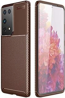 Dalchen for OPPO Reno 4 SE Carbon Fiber Ultra Slim Case, Silicone Soft TPU Minimalist Shockproof Protective Cover in Brow...