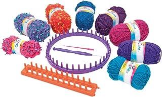 Cra-Z-Art - Kit para tejer punto con 8 ovillos lana Shimmer 'n Sparkle (44092)