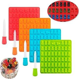 Moldes de silicona para dulces, moldes para cubitos de hielo INTVN con 4 gotas para