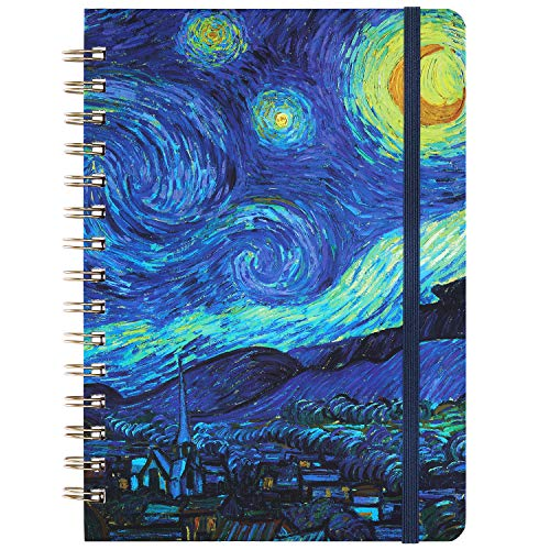 Ruled Notebook/Journal - Lined Journal with Hardcover, 8.4' x 6', College Ruled Spiral Notebook/Journal, Back Pocket, Strong Twin-Wire Binding with Premium Paper, Perfect for School, Home & Office