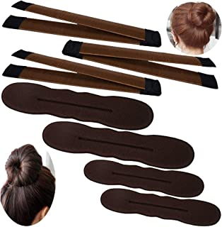 3 Pack Magic Bun Maker,YuCool Mini Buns Maker Donut Thin Hair Ballet Bun Maker Easy Tool Kids Hair Shaper with 4 Pack Foam...