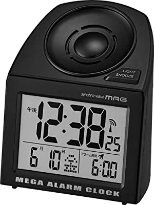 MAG(マグ) デジタル大音量目覚まし時計 メガサウンド ブラック T-691 BK-Z