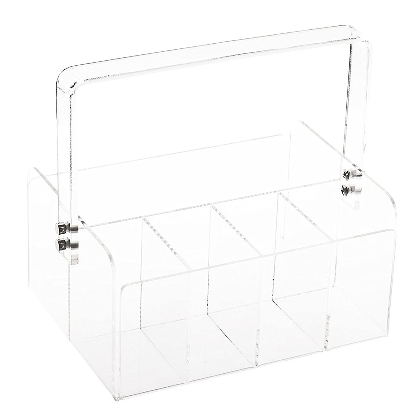 Huang Acrylic Portable Silverware Caddy, Clear