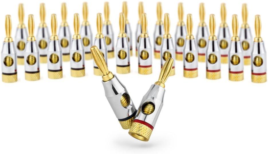 Ocelot Max Super intense SALE 72% OFF Banana Plugs 24k Gold Open Screw Type Plated Connectors