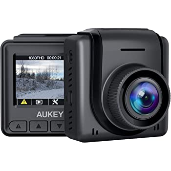 "AUKEY Mini Dash Cam 1080p Full HD Dash Camera with 1.5"" LCD Screen Car Camera with 170° Wide-Angle Lens, G-Sensor, WDR, Motion Detection, and Clear Night Recording"