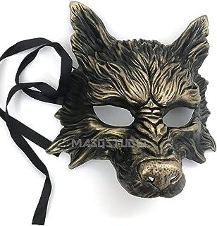 MasqStudio Gold Black Wolf Mask Animal Masquerade Halloween Costume Cosplay Party mask
