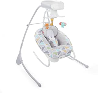 Fisher-Price 2-in-1 Deluxe Cradle 'n Swing, Multi Color