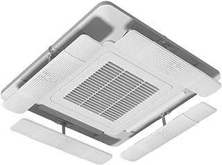 Deflector De Aire Acondicionado para Aire Acondicionado Central De Techo, Evite Que El Aire Sople En Ángulo Recto Ajustable, ABS Microporoso Guía De Viento (4 Piezas)
