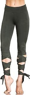 Women Yoga Pants Sport Leggings Fitness Cross High Waist Ballet Dance Tight Bandage Yoga Cropped Pants Ballerina Sportswear